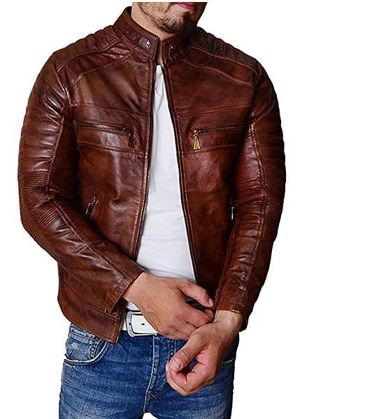 Amazon.com: Trailblazerzz - Chaqueta de piel de cordero para ...