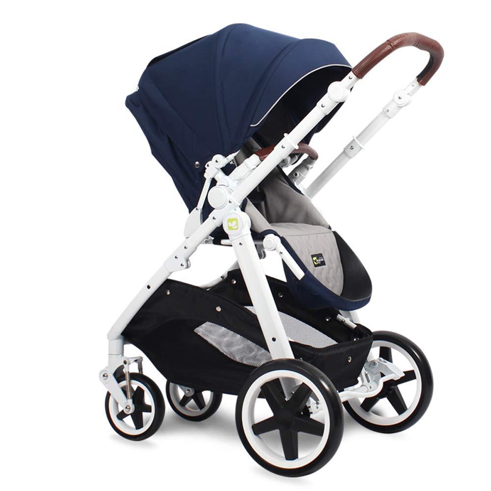 Baby-Kinderwagen, hoher Landschafts-Kinderwagen Europäischer ZWeißege-Schockwagen, der tragbar faltbar ist, kann Kinderwagen sitzen Style10