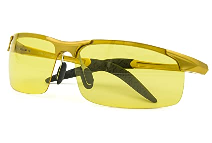 9a173fad9479 Image Unavailable. Image not available for. Color  Costyle Yellow Night  View Vision Polarized Sunglasses Glasses Unbreakable Driving Fishing ...
