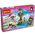 COGO Girls 4521 Forest Adventure Building Bricks Set Educational Bricks Blocks Toys for Girls Game 325 pieces, Helicopter, Boat, Tower, Minifigures, Plant, Bridge