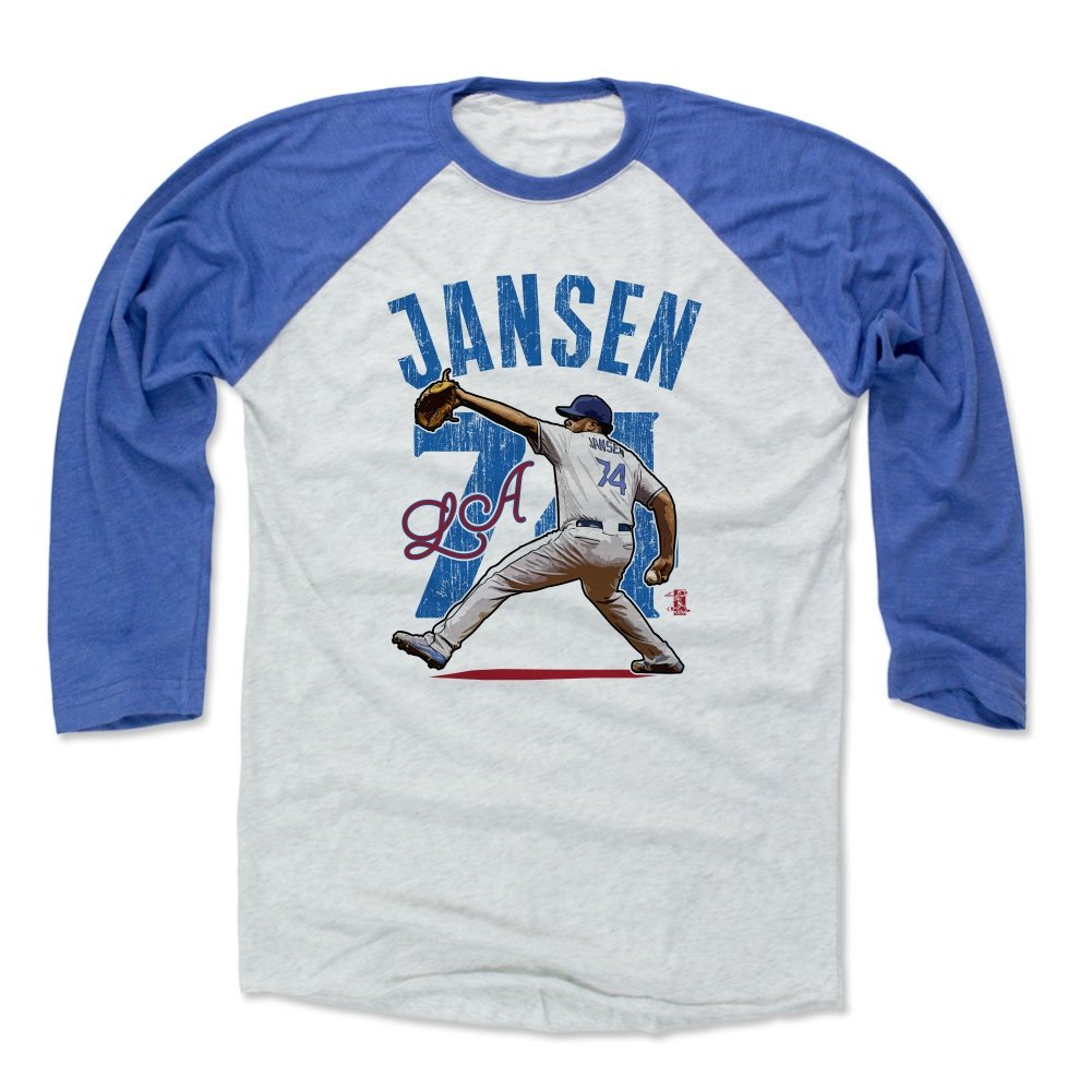 Amazon.com   500 LEVEL Kenley Jansen Baseball Tee Shirt - Los Angeles  Baseball Raglan Shirt - Kenley Jansen Arch   Sports   Outdoors e6e271c7b81