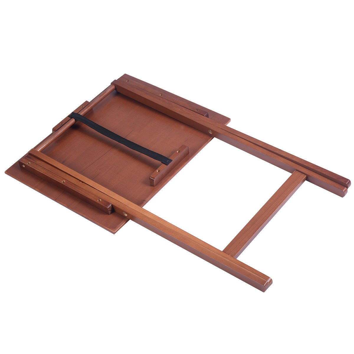 Set of 4 Portable Wood TV Table Folding Tray Desk Serving Furniture Walnut New by Asher Amada (Image #4)