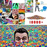 Acecor Colorful Water Beads 10000Pcs Pack Sensory Toys Reusable & Non Toxic Growing Jelly Balls for Kids Vase Filler Soil Plant Decoration