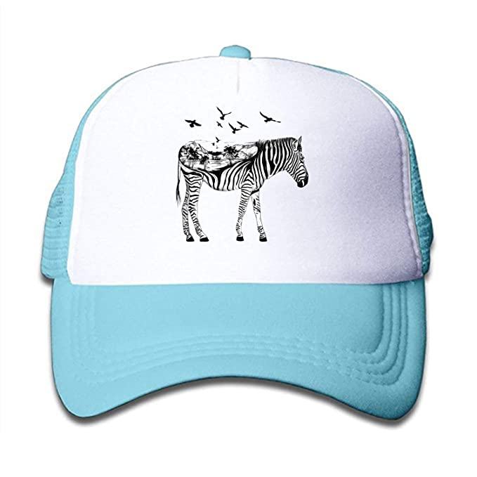 0d9296034e8 Amazon.com  Yves Horace Zebra Print Mesh Back Snapback Trucker Cap ...