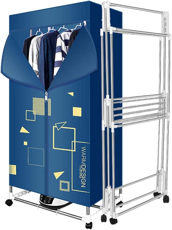 Armario empotrado de aire caliente plegable y silencioso para el hogar - 15 kg de capacidad Ahorro de energía (anión), secado rápido plegable y eficiente Ropa para el hogar para niños Secadora peque