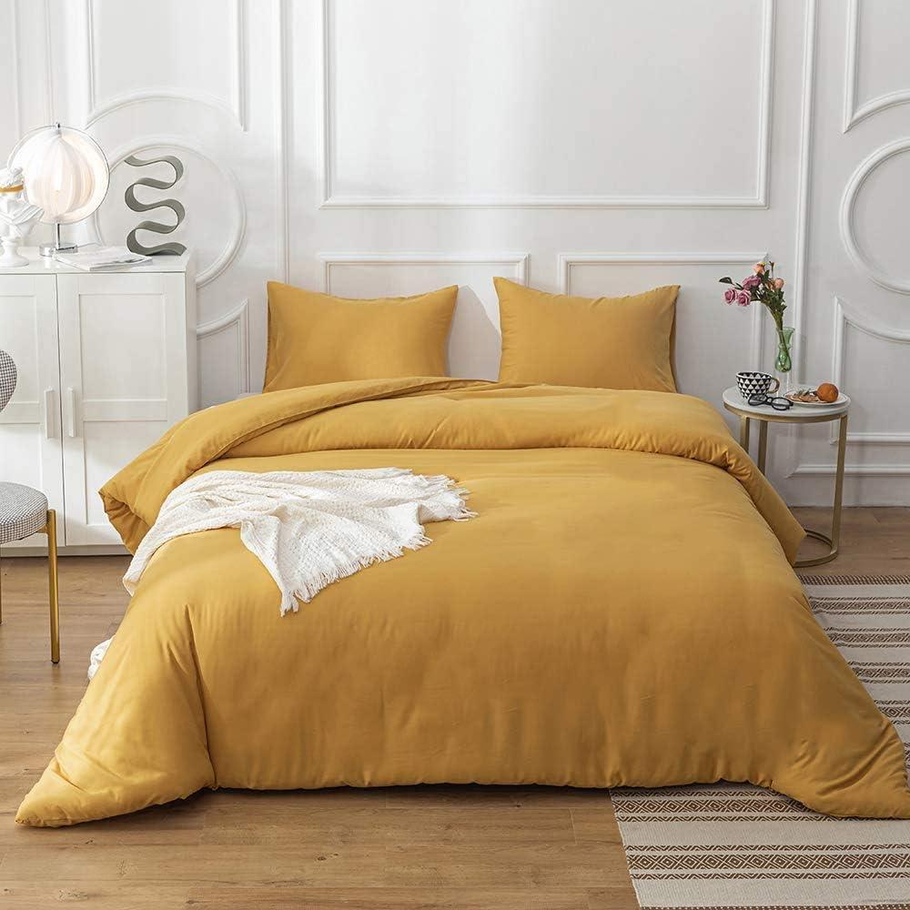 Jumeey Yellow Comforter Set Queen Women Girls Dark Yellow Bedding Sets Full Mustard Yellow Comforter Boys Men Deep Yellow Comforter Sets Queen Ginger Bedding Quilts Blanket Full Size