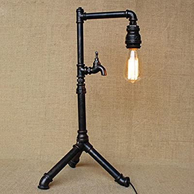 DMMSS Vintage Industrial Creative Pipe Lamp Bedside Personality Taps