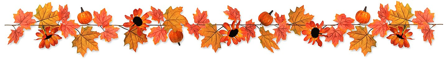 Beistle 90661 Autumn Garland, 6-Feet