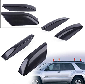 Black Exterior Roof Rack Rail End Cover Shell Cap Replacements Compatible with Toyota 4Runner 4WD RWD N210 2003-2009 2004 2005 2006 2007 2008 2009 AY Customs PCS 4 Black