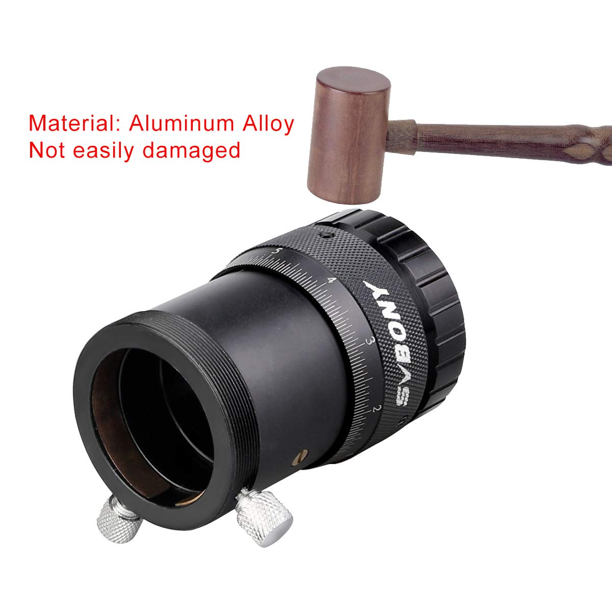 SVBONY SV151 Double Helical Focuser High Precision 1.25 inch With Female Thread Adapter M31x0.5 Female Thread to M42x0.75 T2 Female Thread Adapter for Telescope Lens Finder Guidescope