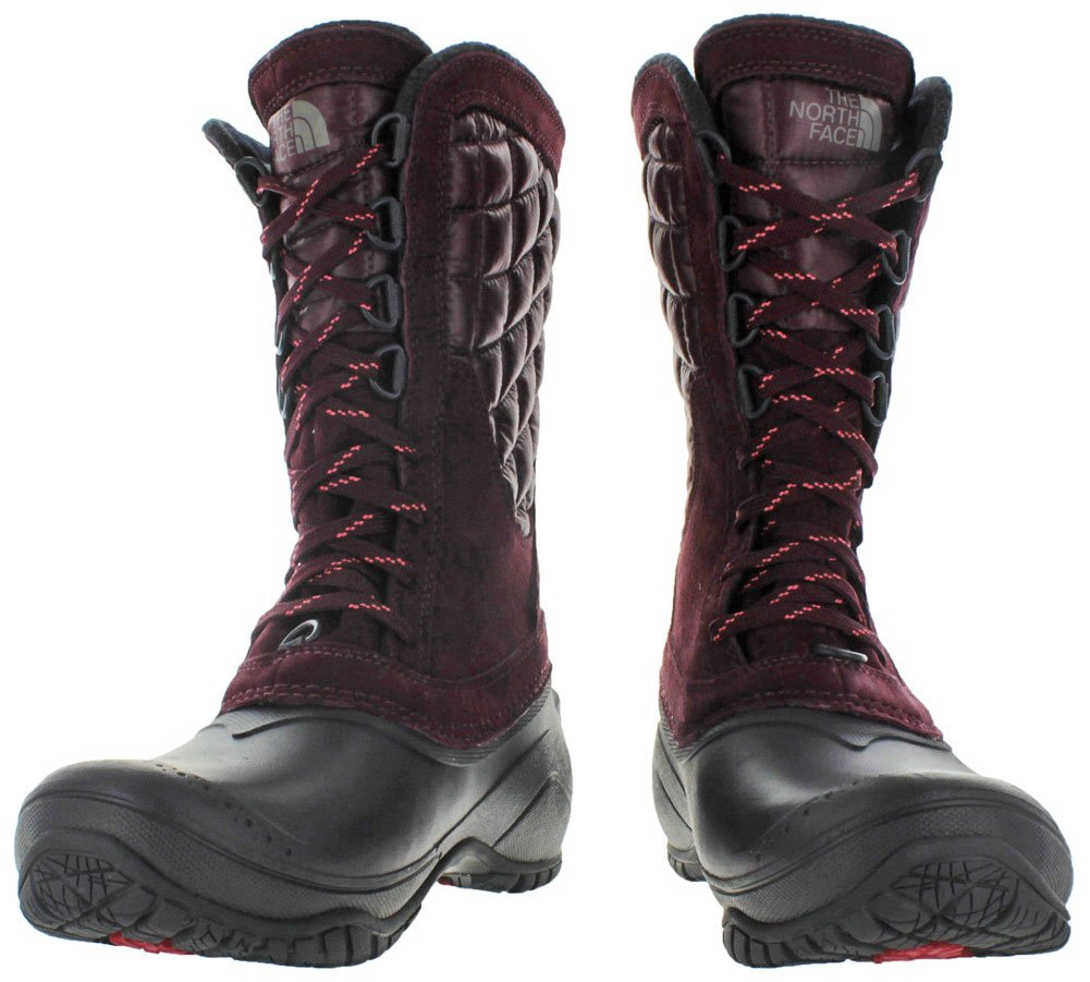 The North Face Womens Thermoball Utility Mid B0195K6DAQ 6 M US|Deep Garnet Red/Calypso Coral