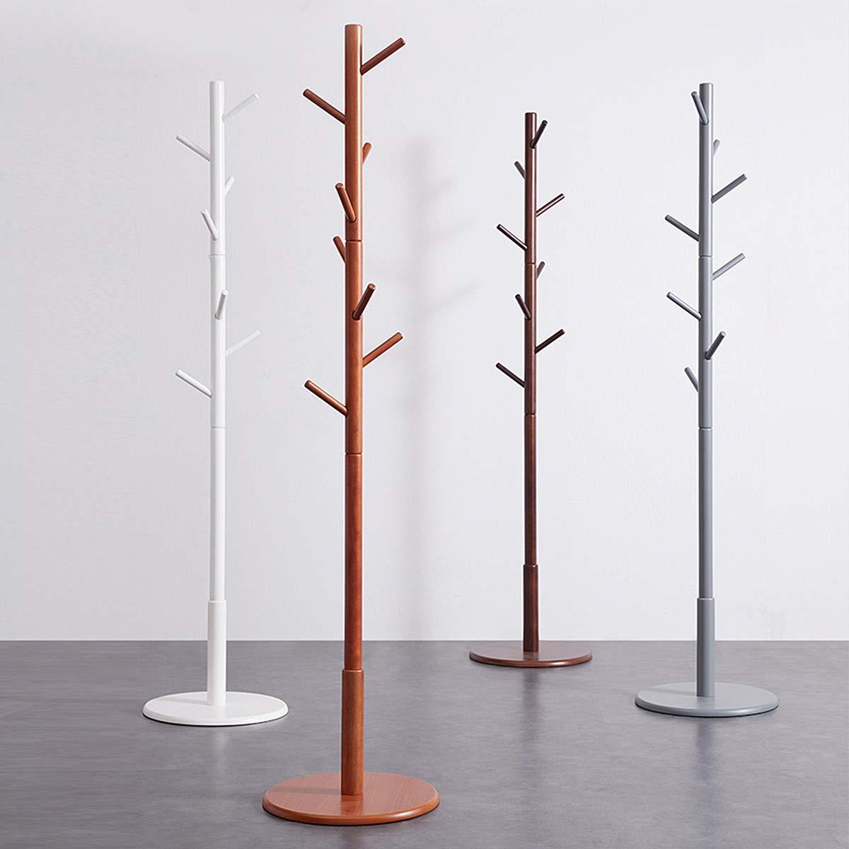 Stile Vintage Appendiabiti da Pavimento VLUSH in Legno di Gomma 40 x 40 x 175 cm