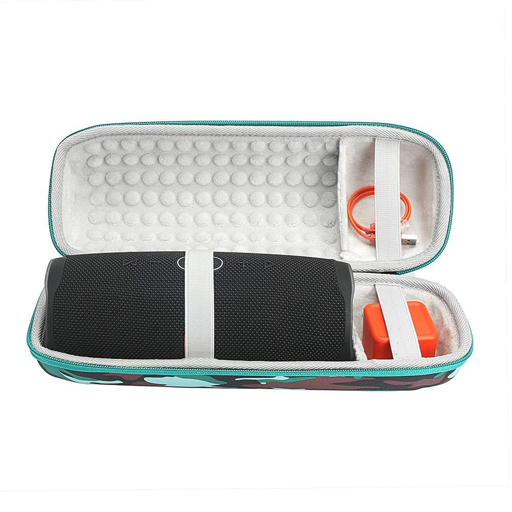 Custodia rigida da viaggio per JBL Charge 4/altoparlante bluetooth senza fili portatile impermeabile archiviazione EVA protettiva bag/ /Fits Plug /& cavi e accessori Silicone Black