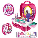 Makeup For Girls Pretend Play Dress up Toy Kit , 21 Pieces Beauty Salon Toys Make-up Box Full Funny Of Best Gift Set for Little Girls