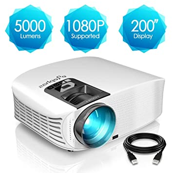 Proyector HD, ELEPHAS 1080P LCD Video proyector Full HD con 5000 ...
