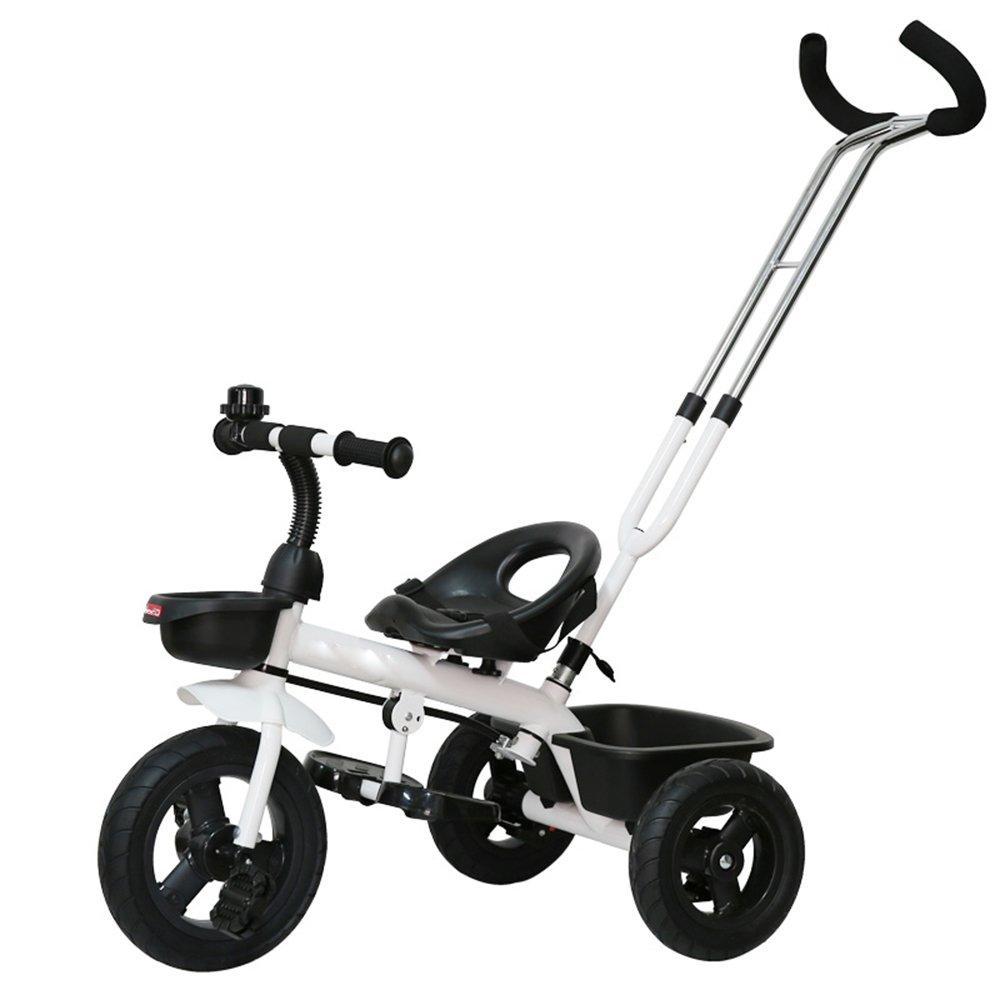 YANGFEI 子ども用自転車 子供の三輪車バイク1-3歳のベビーバイクベビーカー2-4-6歳 212歳 B07DWPVHH5 ホワイト-2 ホワイト-2