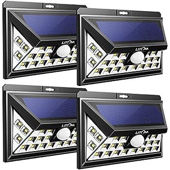 Litom Solar Lights Outdoor Wireless 24 Led Motion Sensor