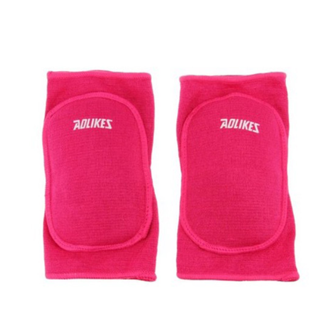 Children Kids Stretchy Cotton Knee Pads Brace Warp Sleeve For Kids Sport Dance (M:for 8-15 years old kids, Pink(Aolikes))