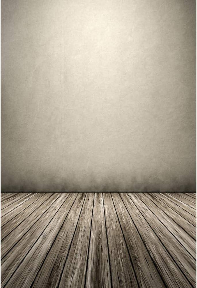 YEELE Vintage Room Wall Backdrop 8x10ft Grunge Wood Wooden Floor Photography Background Newborn Baby Kids Children Adults Photos Artistic Portrait Product Shoot Photobooth Props Digital Wallpaper