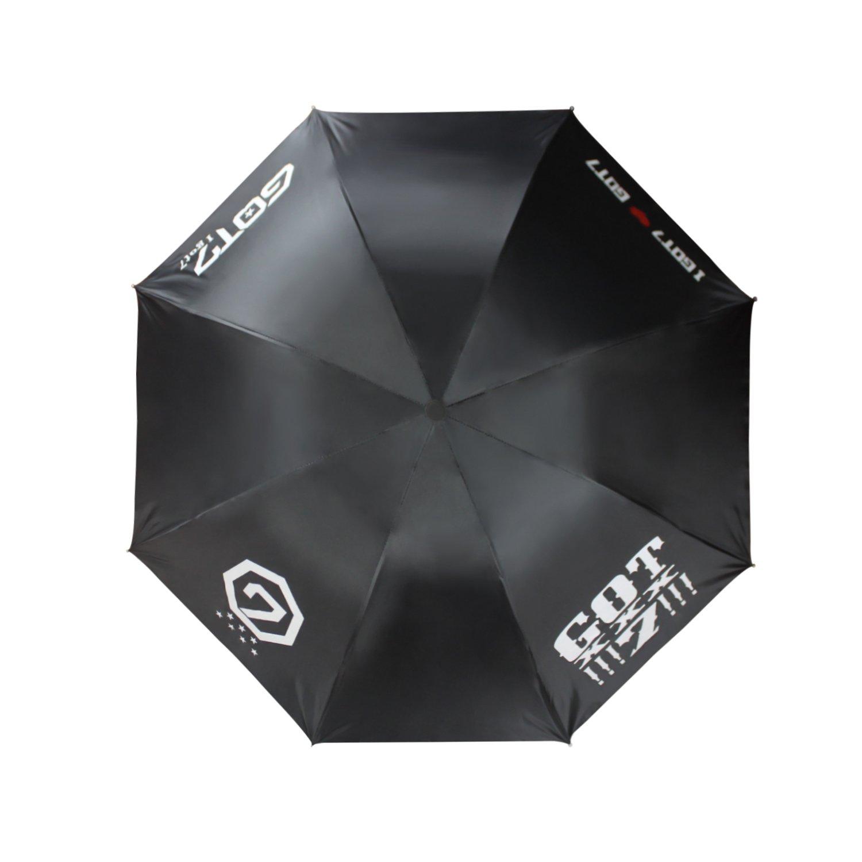 Fanstown Kpop team logo Folding Travel Umbrella windproof sun & rain Umbrella (GOT7)