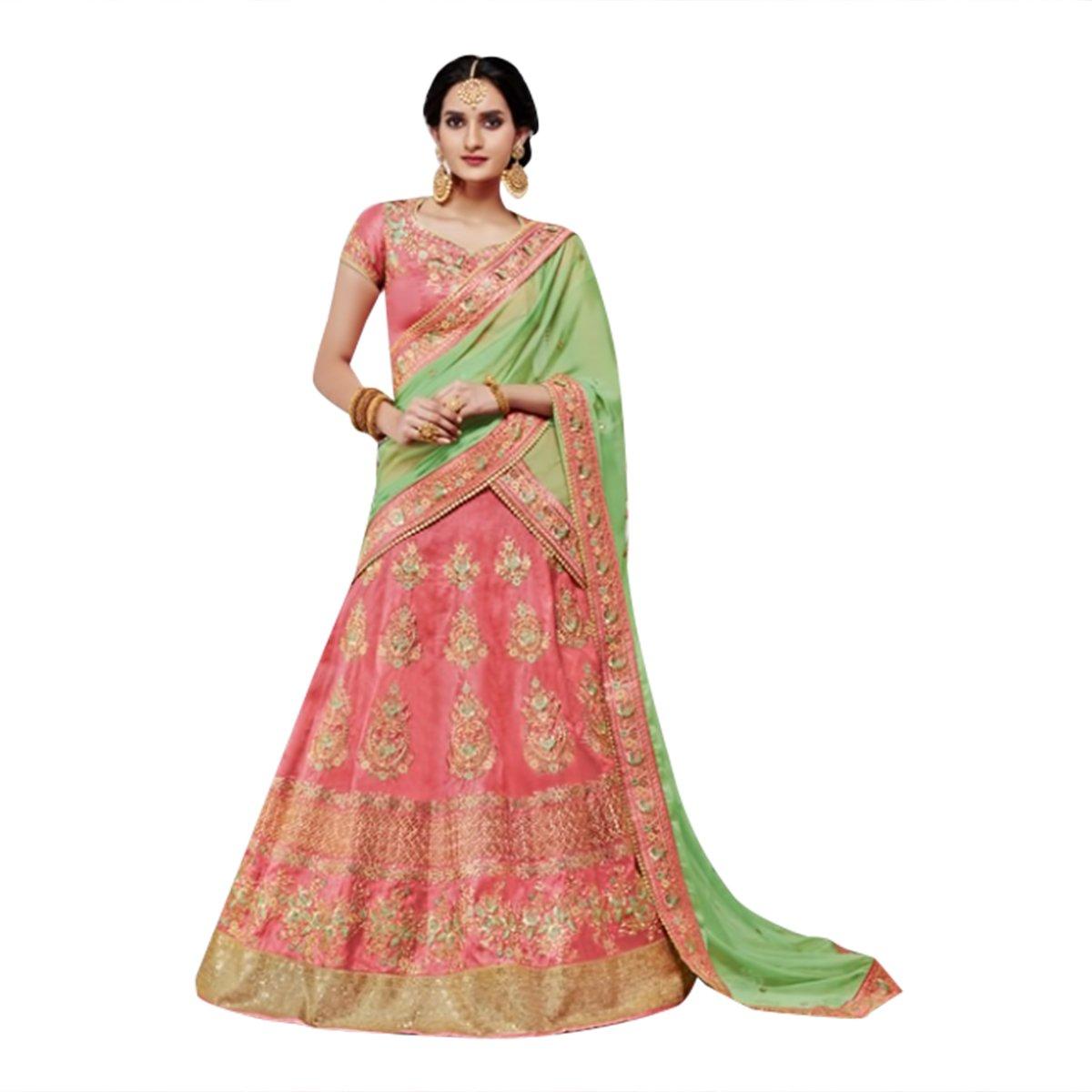 Abiti nuziali nuziali di cerimonia nuziale del progettista indiano delle donne di Lehengha Choli del...