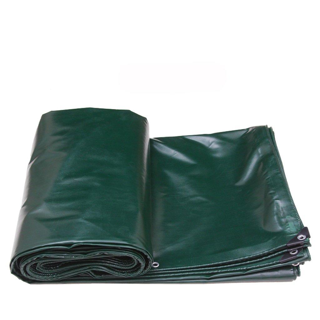 パッド入り防水雨布キャノピー屋外日除け日焼け止めトラック (色 : 濃い緑色, サイズ さいず : 5*4m) B07F5L7CY6 5*4m 濃い緑色 濃い緑色 5*4m
