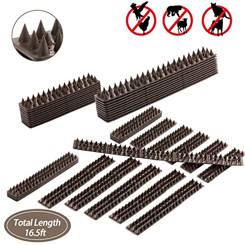 - Juguhoovi Defender Bird Spikes, Repellent Spikes to Prevent Birds, Cat and Small Animals from Entering Your Home Security for Fence, Railing, Walls and Roof