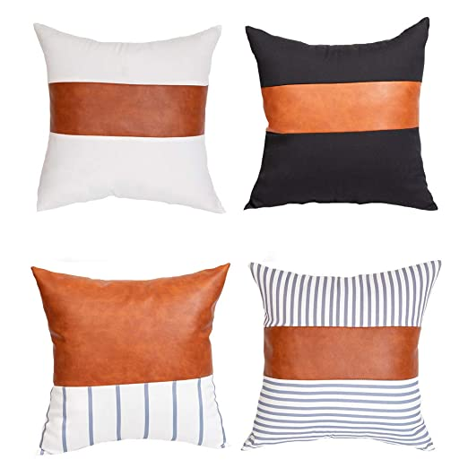 Bluting Throw Pillow Case,Funda De Cojín Cuadrado,Cuero De ...
