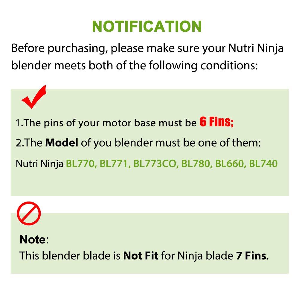Amazon.com: Ninja Blender - Piezas de repuesto para cuchilla ...