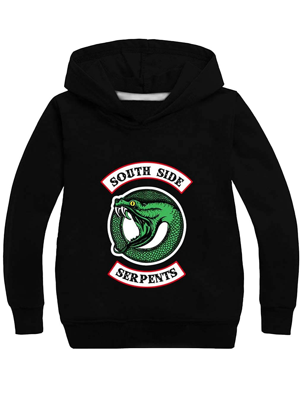 Felpa Bambino con Cappuccio Felpa Riverdale South Side Serpents Ragazza//Ragazzo con Cappuccio Felpa a Maniche Lunghe Casuale Inverno Pullover Felpa Sportiva Maglione