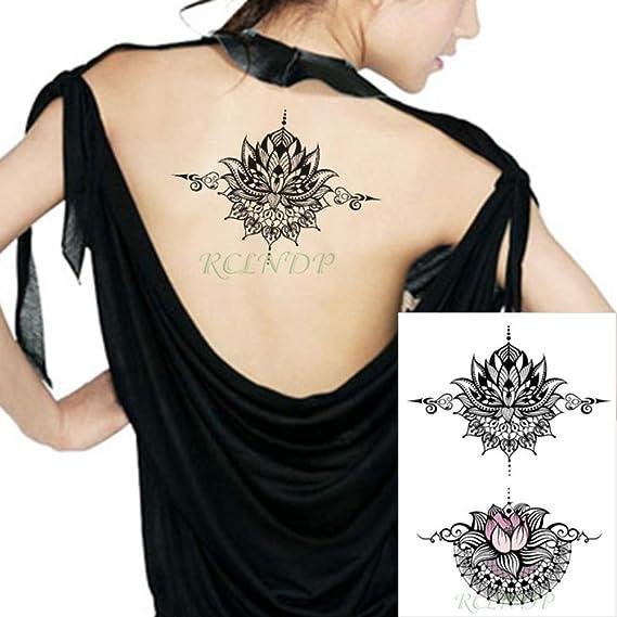 tzxdbh Impermeable Etiqueta engomada del Tatuaje del tótem Datura ...