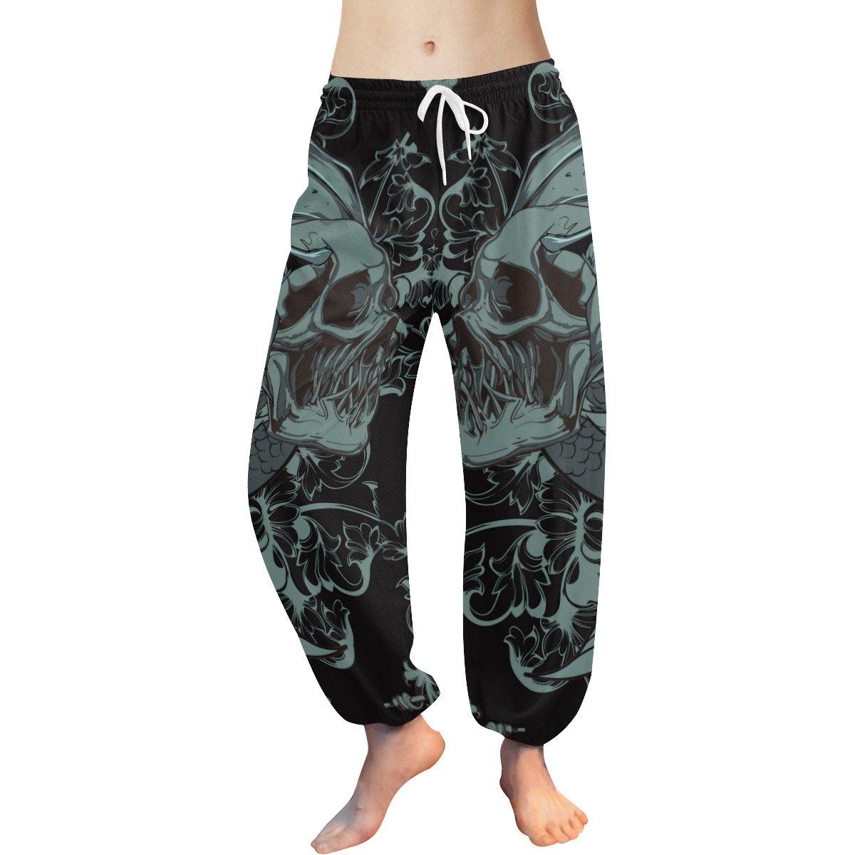 Lumos3DPrint Gothic Punk Skull Womens Yoga Harem Pants