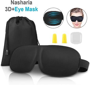 Antifaz para dormir Nasharia 3D, máscara para los ojos, banda de ...