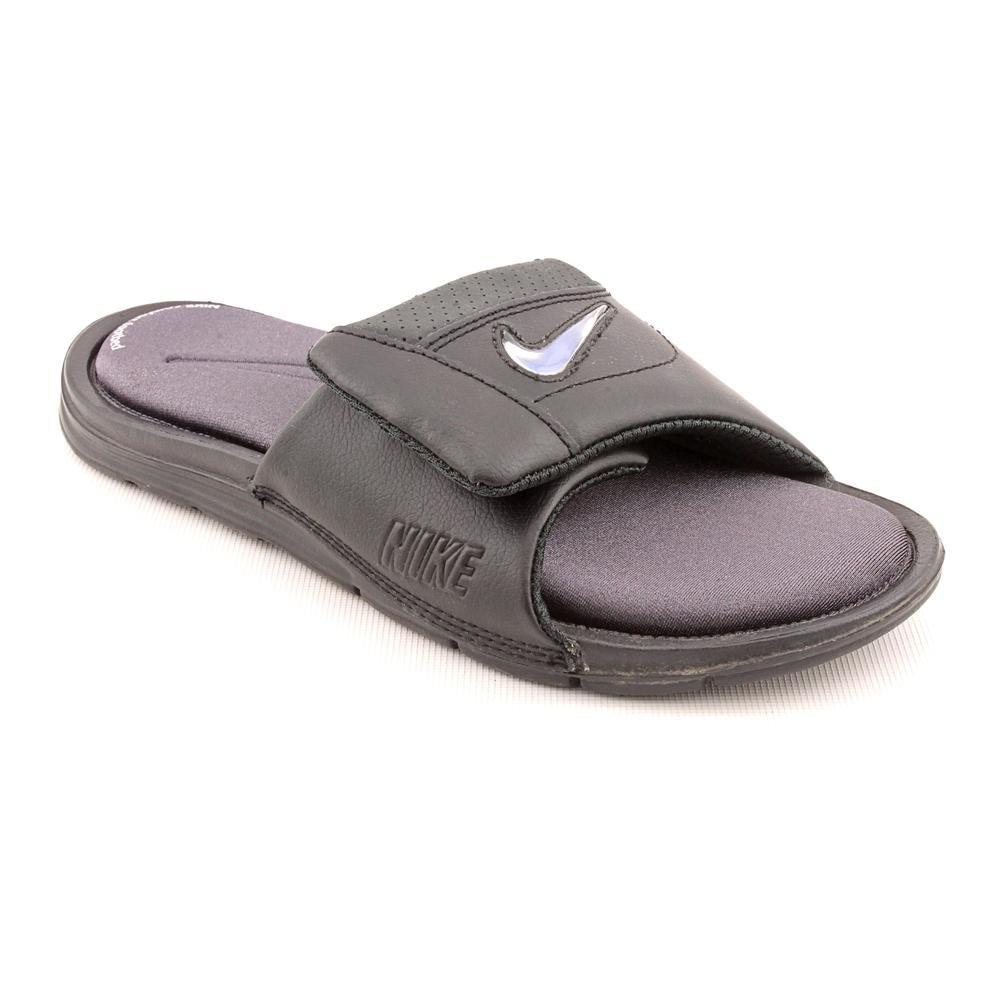 153bb16c8d5ab NIKE Comfort Custom Slide 2 Youth Boys Black Slides Sandals Shoes UK ...