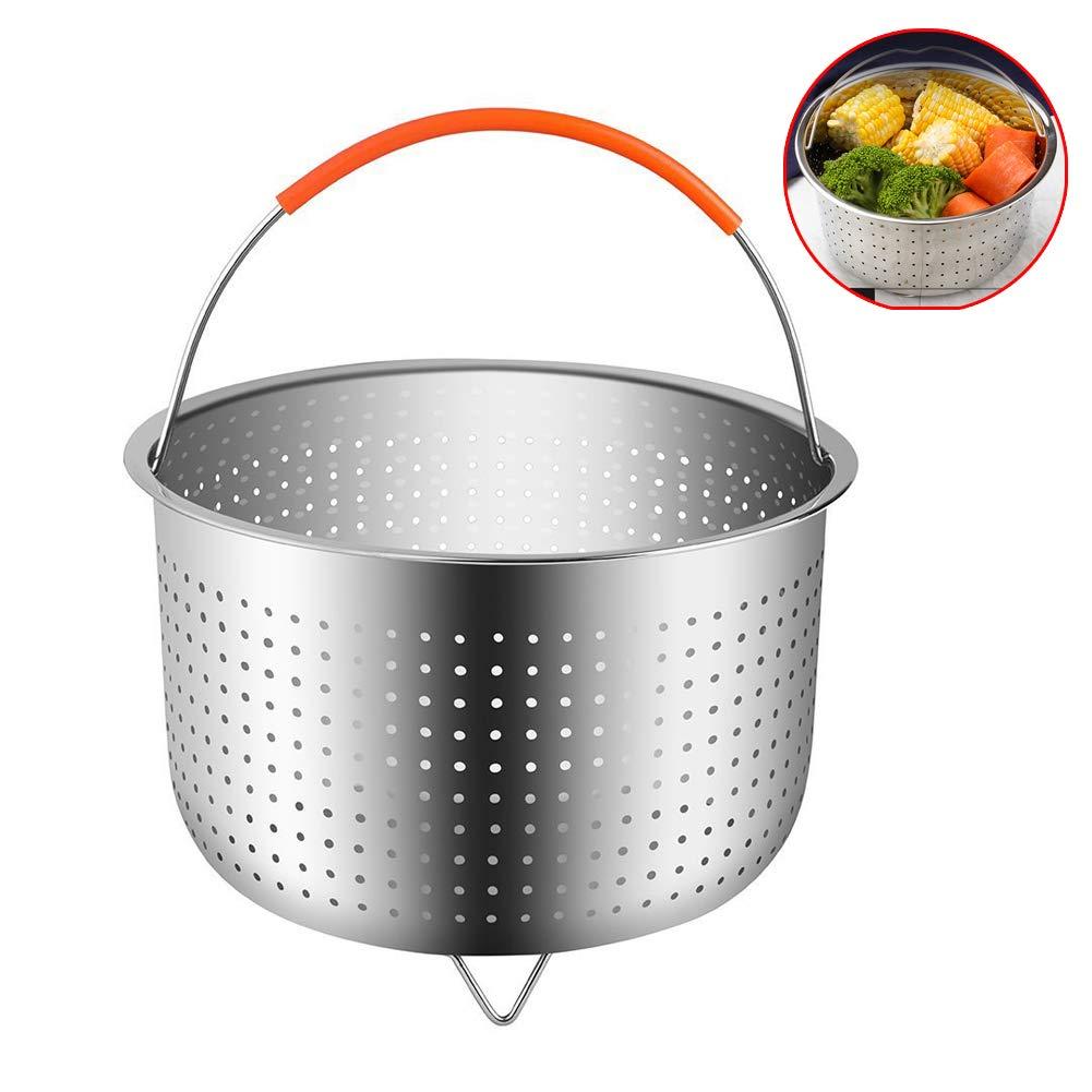 MCUILEE Paniers cuit-Vapeur Acier Inoxydable avec Poign/ée pour Instant Pot Accessoires Compatible avec La Plupart des Autocuiseurs