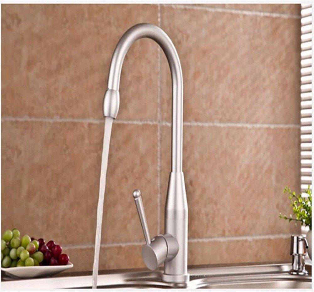 LHbox Tap Sprayer Spout Kitchen Faucet Kitchen Faucet Space Aluminum Cold Water Faucet Standard Lead-Free Water Faucet
