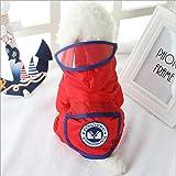 Haustier Hund Wasserdicht Mit Kapuze Regenmantel Puppy Jacke Bekleidung für kleine und mittlere Hunde