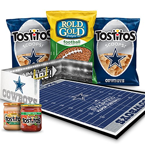Dallas Cowboys NFL Party Box, Tostitos Chips & Dips and Rold Gold Pretzel Snacks