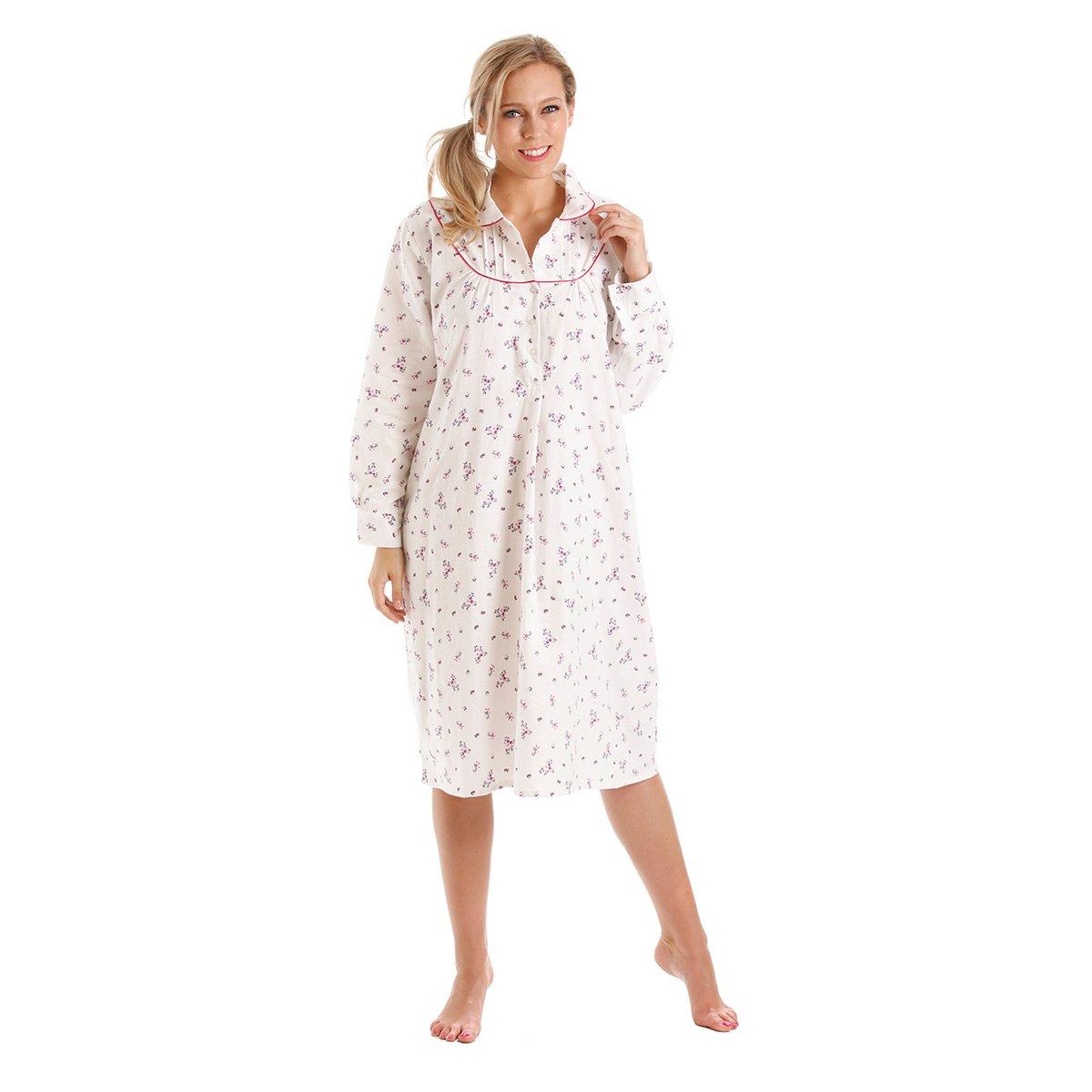 cecdd3a963 Ladies Womens Wincyette Brushed Cotton Nightie Nightdress Size 10 - 24