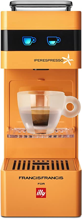 Illy Francis Francis for Y3, Máquina para café (Cápsulas, 1000 W, 19 bar, Naranja: Amazon.es: Hogar