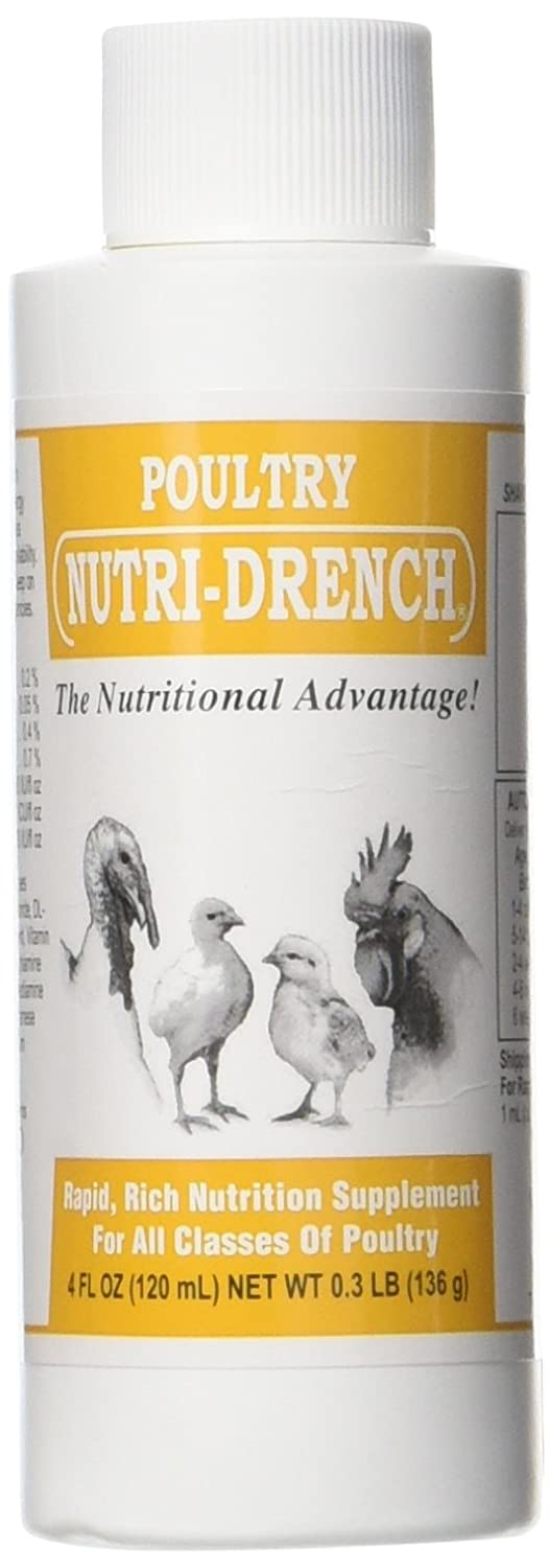 Nutri-Drench Poultry Solution 4 FL OZ Bovidr Laboratories 617407594416
