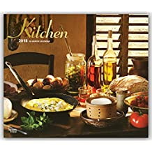 Kitchen 2018 14 x 12 Inch Monthly Deluxe Wall Calendar with Foil Stamped Cover