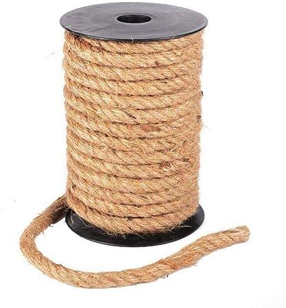 10m x 6mm Ficelle Corde en Jute Vintage D/écoration pour Artisanat Jardinage Mariage