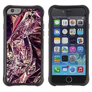 Suave TPU GEL Carcasa Funda Silicona Blando Estuche Caso de protección (para) Apple Iphone 6 / CECELL Phone case / / Purple Tinfoil Reflective Metal Silver /