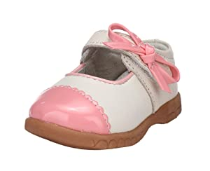 Ctshow Baby Girls Leather Flat Princess Shoes Pink (Toddler, Little Kid )