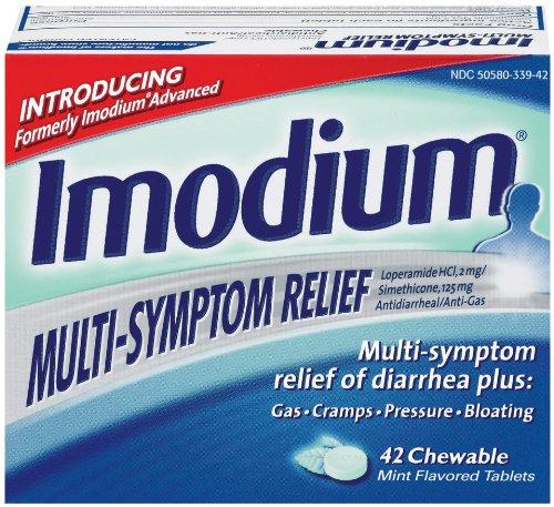 Imodium Multi-Symptom Relief de la diarrhée, Mint, 42-Count Comprimés à croquer