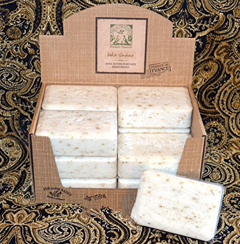 (Case of 12 Pre de Provence White Gardenia Scent 250 gram shea butter extra large soap bars)