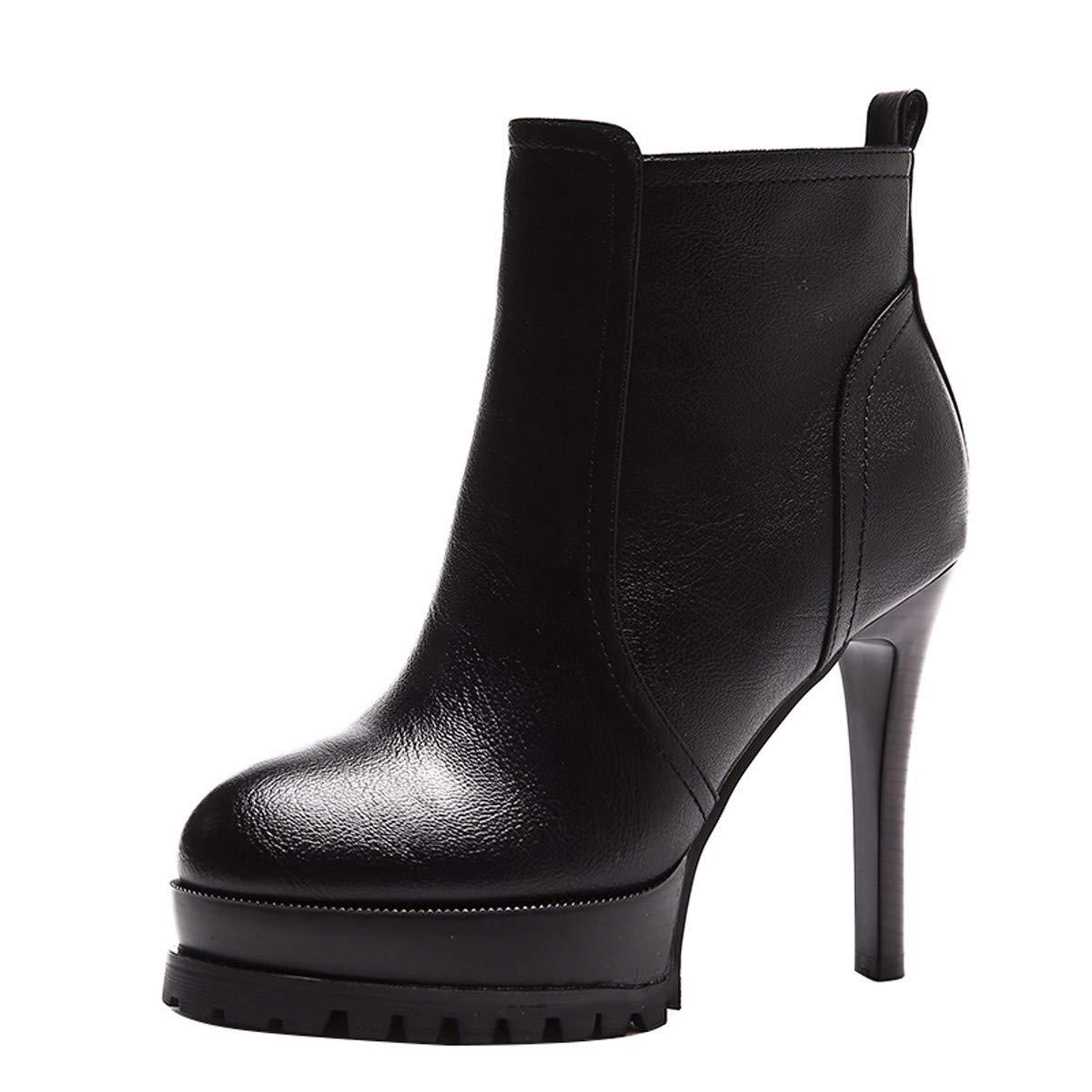 KPHY Damenschuhe/Mode, Schuhe, 12Cm Hoch, Einfache Partner, Martin Stiefel, Um Meine Schuhe Stehen Gut, Wasserdicht, Winter - Stiefel