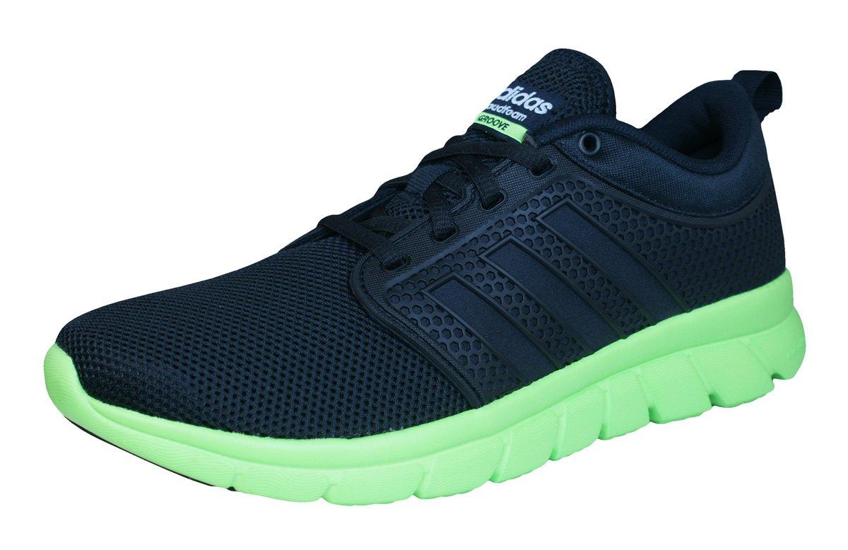 adidas Neo Cloudfoam Groove Hombre Zapatillas de Deporte Corrientes/Zapatos 40.5 EU|Black