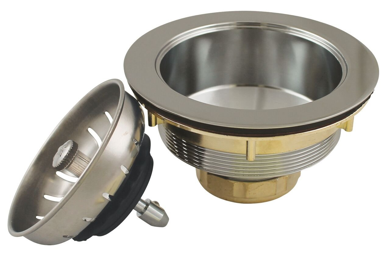 Keeney K1439SS Deep Thread Cast Brass Sink Power Ball Basket, Complete Kitchen Strainer 4.5'', Stainless Steel by Keeney (Image #1)